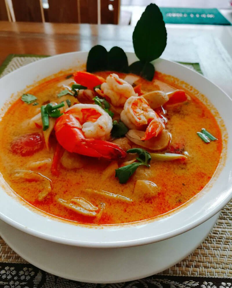 Tom Yum Koong With Coconut Milk - Phuket Cooking Class