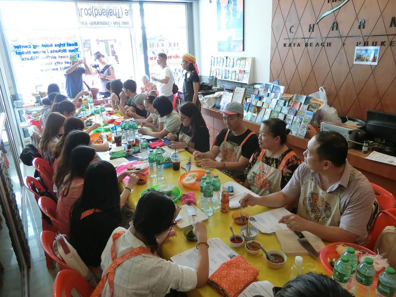 Team building phuket cooking class